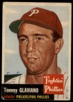 1953 Topps #140  Tommy Glaviano  Front Thumbnail