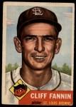 1953 Topps #203  Cliff Fannin  Front Thumbnail