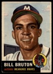 1953 Topps #214  Billy Bruton  Front Thumbnail