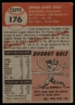1953 Topps #176  Don Hoak  Back Thumbnail
