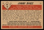 1953 Bowman #31  Jimmy Dykes  Back Thumbnail