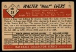 1953 Bowman #25  Hoot Evers  Back Thumbnail