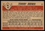 1953 Bowman #42  Tom Brown  Back Thumbnail