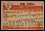 1953 Bowman #43  Mike Garcia  Back Thumbnail