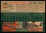 1954 Topps #140  Tom Wright  Back Thumbnail