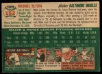 1954 Topps #152  Mike Blyzka  Back Thumbnail