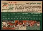 1954 Topps #160  Red Kress  Back Thumbnail