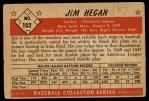 1953 Bowman #102  Jim Hegan  Back Thumbnail
