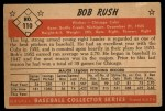 1953 Bowman #110  Bob Rush  Back Thumbnail