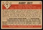 1953 Bowman #7  Harry Chiti  Back Thumbnail