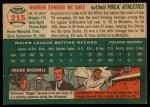 1954 Topps #215  Ed McGhee  Back Thumbnail