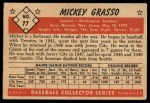 1953 Bowman #77  Mickey Grasso  Back Thumbnail