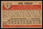 1953 Bowman #78  Carl Furillo  Back Thumbnail