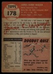 1953 Topps #178  Jim Waugh  Back Thumbnail