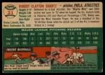 1954 Topps #21  Bobby Shantz  Back Thumbnail
