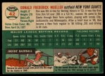 1954 Topps #42  Don Mueller  Back Thumbnail