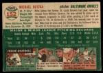 1954 Topps #152  Mike Blyzka  Back Thumbnail