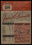 1953 Topps #219  Pete Runnels  Back Thumbnail