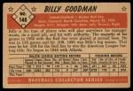 1953 Bowman #148  Billy Goodman  Back Thumbnail