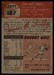 1953 Topps #187 ERR Jim Fridley  Back Thumbnail