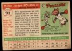 1955 Topps #91  Milt Bolling  Back Thumbnail