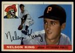 1955 Topps #112  Nelson King  Front Thumbnail