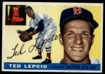 1955 Topps #128  Ted Lepcio  Front Thumbnail