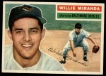 1956 Topps #103 GRY Willie Miranda  Front Thumbnail