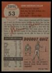 1953 Topps #53  Sherm Lollar  Back Thumbnail