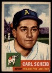1953 Topps #57  Carl Scheib  Front Thumbnail