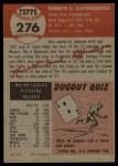 1953 Topps #276  Ken Raffensberger  Back Thumbnail