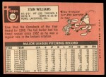 1969 Topps #118  Stan Williams  Back Thumbnail