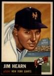 1953 Topps #38  Jim Hearn  Front Thumbnail