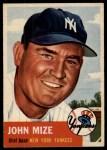 1953 Topps #77  Johnny Mize  Front Thumbnail