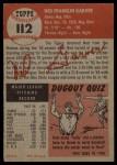 1953 Topps #112  Ned Garver  Back Thumbnail
