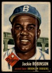 1953 Topps #1  Jackie Robinson  Front Thumbnail