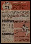 1953 Topps #23  Toby Atwell  Back Thumbnail