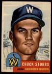 1953 Topps #89  Chuck Stobbs  Front Thumbnail