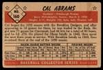 1953 Bowman #160  Cal Abrams  Back Thumbnail