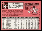 1969 Topps #23  Lew Krausse  Back Thumbnail