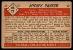 1953 Bowman #77  Mickey Grasso  Back Thumbnail