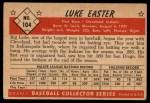 1953 Bowman #104  Luke Easter  Back Thumbnail