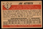 1953 Bowman #82  Joe Astroth  Back Thumbnail