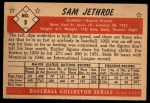 1953 Bowman #3  Sam Jethroe  Back Thumbnail