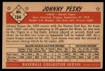 1953 Bowman #134  Johnny Pesky  Back Thumbnail