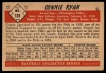 1953 Bowman #131  Connie Ryan  Back Thumbnail