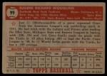 1952 Topps #99  Gene Woodling  Back Thumbnail