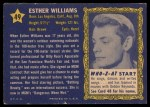 1953 Topps Who-Z-At Star #49  Esther Williams  Back Thumbnail