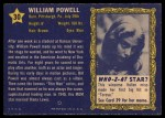 1953 Topps Who-Z-At Star #30  William Powell  Back Thumbnail