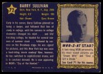 1953 Topps Who-Z-At Star #72  Barry Sullivan  Back Thumbnail